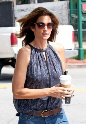 Cindy Crawford - Leaving Starbucks in Malibu 3/23/14