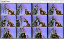 KATHIE LEE GIFFORD 1987 fantasy - 'Bambi playing with Thumper' - 1987 fantasy
