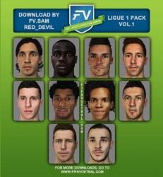 FACE PROJECT LIGUE1 PACK VOL.1 by SAM_RED DEVIL