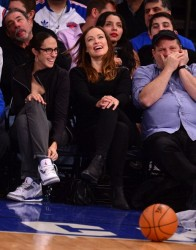 Olivia Wilde at the game between the New York Knicks and the Cleveland Cavaliers at the Madison Square Garden, New York, March 23th, 2014