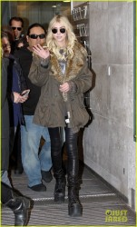 Taylor Momsen - Leaving BBC Radio 1 in London 3/23/14