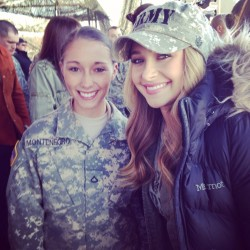 Hayden Panettiere at Fort Campbell on March 26, 2014