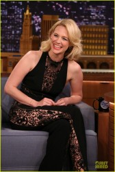 January Jones - On the 'Tonight Show starring Jimmy Fallon' in NYC 3/28/14