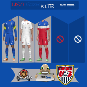 Download PES 2014 USA GDB World Cup 2014 Kits by Firas Zinou