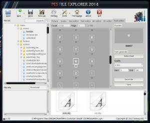 PES 2014 Font creator