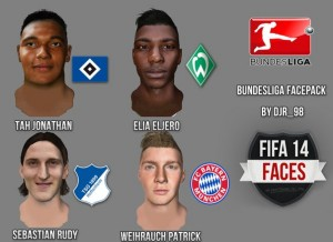 FIFA 14 Bundesliga Facepack vol.1 - Release by DJr_98