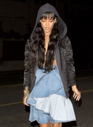 Rihanna At Giorgio Baldi Restaurant In Los Angeles - March 29, 2014
