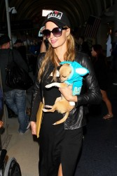 Paris Hilton - At LAX Airport 4/3/14