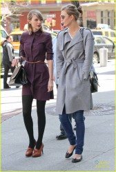Taylor Swift & Karlie Kloss - Out in NYC 4/3/14
