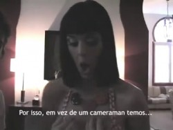Katy Perry Showing Her Cleavage at an MTV Portugal Interview on June 28, 2009