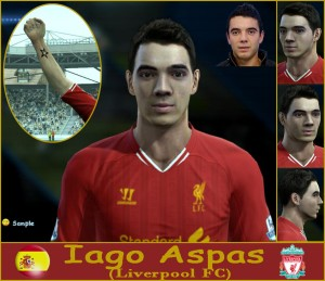 Download PES 2013 Iago Aspas Face by SantanAji