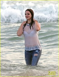 Lana Del Rey - Filming her new music video at the beach in LA 4/3/14