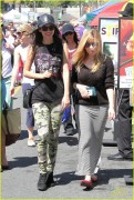 Victoria Justice & Jennette Mccurdy - At Farmers Market 4/06/14