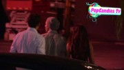 Nina & Derek Hough Holding hands while hiding from Paparazzi at The Roosevelt LA (October 5) 929037319507718