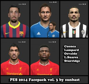 Download PES 2014 Facepack vol.3 by sunbast