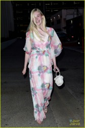 Elle Fanning - Leaving her 16th Birthday Party in LA 4/9/14