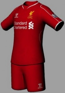 Liverpool 14-15 Home and GK Kits FIFA 14 by Tonce