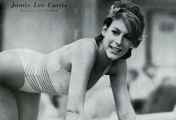 Jamie Lee Curtis: 80's B&W Leotard Still: HQ x 1