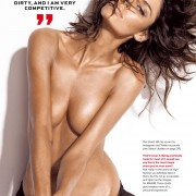 Nicole Trunfio topless red thong