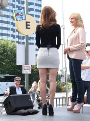 Maria Menounos - On the set of 'Extra' in LA 4/22/14