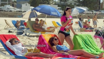 ARIEL WINTER & SARAH HYLAND on Bondi Beach - Modern Family s5.ep20