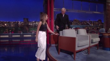 SARAH HYLAND - The Late Show 04,24,14
