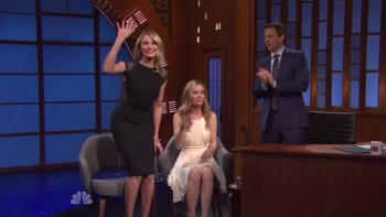 CAMERON DIAZ & LESLIE MANN - Late Night 04,25,14