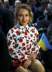 Hayden Panettiere at the Wladimir Klitschko vs. Alex Leapai Fight in Germany on April 26, 2014