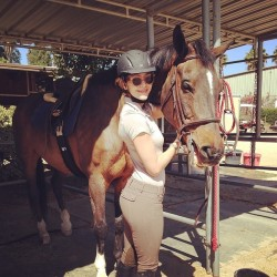 Katharine McPhee With a Horse - April 24, 2014