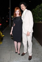 Christina Hendricks - Leaving The Church Key restaurant in LA 5/1/14