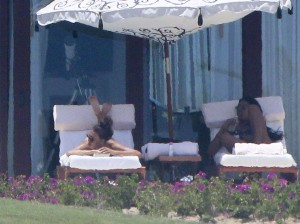 Naya Rivera bikini vacation thong candids 15