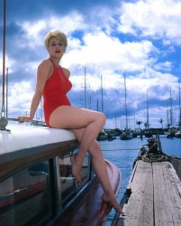 Stella Stevens: Quite Fetching In Red One Piece - HQ x 1