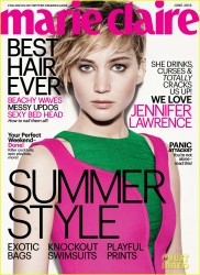 Jennifer Lawrence - Marie Claire June 2014