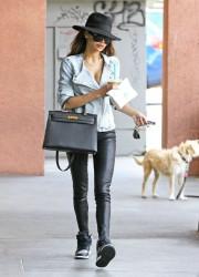 Naya Rivera - Leaving Starbucks in Los Feliz 5/8/14