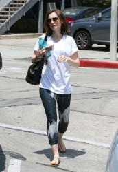 Lily Collins - Leaving the gym in West Hollywood 5/9/14