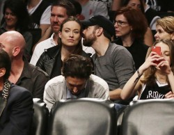 Olivia Wilde � Brooklyn Nets vs Miami Heat Playoff Game at the Barclays Centre in New York City, May 10, 2014