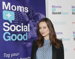 Olivia Wilde at the UN Foundation Moms Social Good Conference in New York City on May 7, 2014