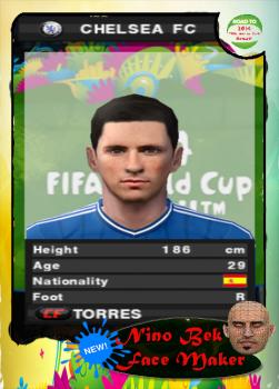 Fernando Torres PES 2014 PS2 Face