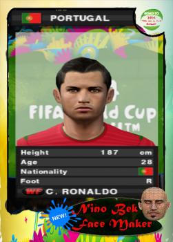 Cristiano Ronaldo PES 2014 PS2 Face