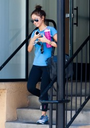 Brenda Song - Leaving the gym in Studio City 5/16/14