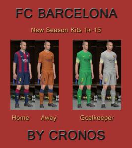 PES 2014 FC Barcelona 14-15 Kits by Cronos