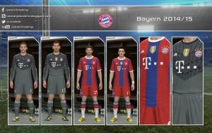 Download Bayern Munchen 14-15 Home and GK Kit by Nemanja