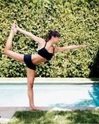 Lea Michele - Yoga Poses