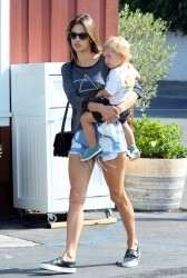 Alessandra Ambrosio - Out for breakfast in Brentwood 5/27/14