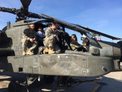 Hayden Panettiere in a Helicopter at Fort Campbell on March 26, 2014