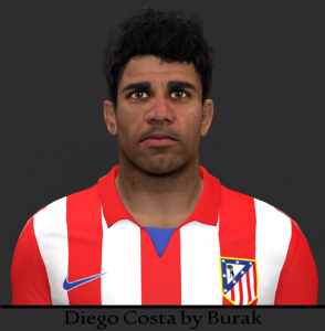 Download PES2014 Diego Costa Face by Burak