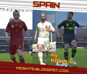 PES 2014 Spain WC 2014 White Kits by KoliaV