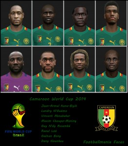 Cameroon World Cup 2014 Facepack by Footballmania