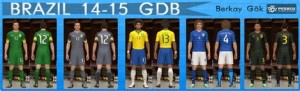 Download PES 2014 Brazil 14-15 GDB Kits by Berkay Gok