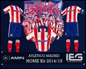 FIFA 14 Atletico Madrid Home Kit 2014/15 by amin2244